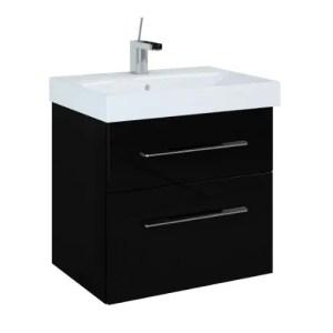 szafka z umywalka barcelona 60 black czarna elita polysk lakier
