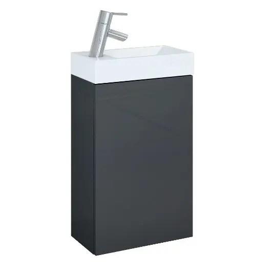 szafka z umywalka young 40 antracyt szary polysk lakier elita
