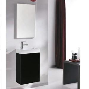szafka z umywalka young 40 black czarny polysk lakier