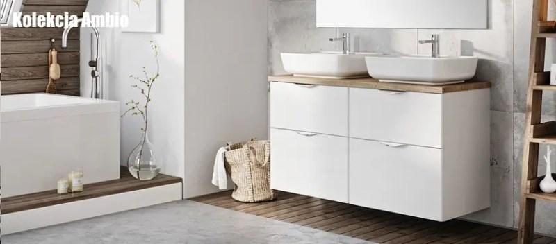 szafka pod umywalkę nablatową głębokość 46 cm AMBIO