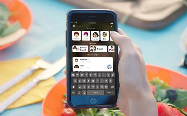 سنابشات ترسل التصميم الجديد مع البحث داخل التطبيق