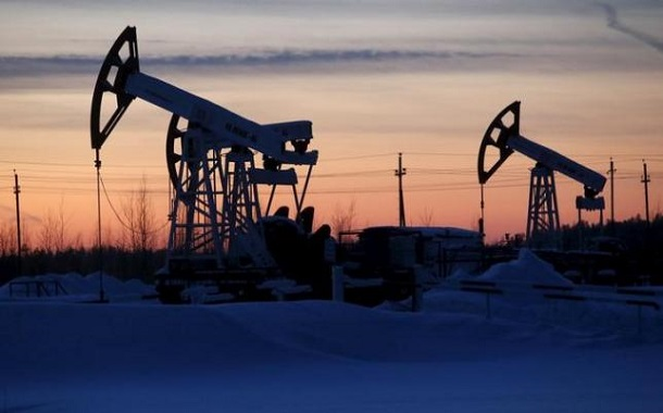 Pump jacks are seen at Lukoil company owned Imilorskoye oil field outside West Siberian city of Kogalym