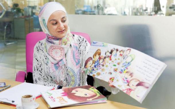 """مديرة مشروع """"نحن نحب القراءة"""" ضحى الخصاونة - (تصوير- اسامه الرفاعي)"""
