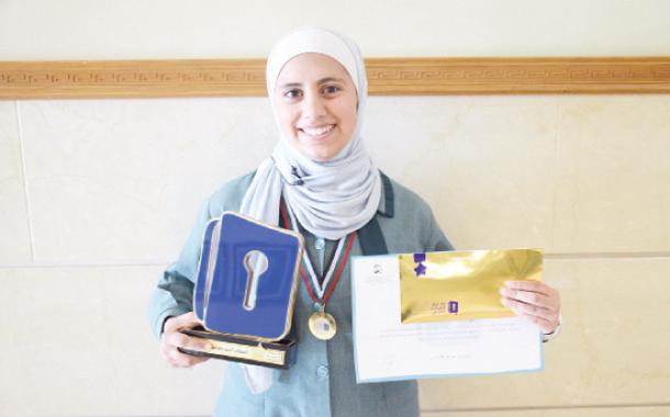 """الطالبة ضحى محمود بطلة مسابقة """"تحدي القراءة"""" في الأردن- (من المصدر)"""