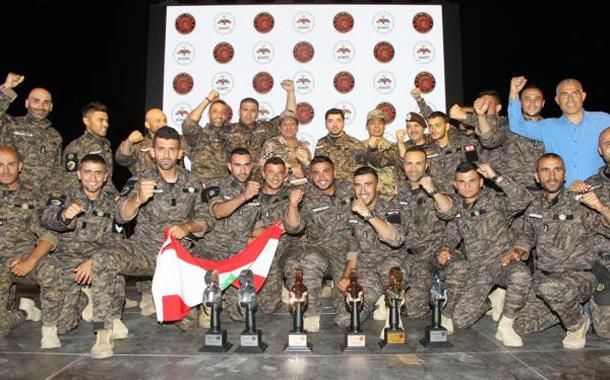 جانب من حفل تكريم الفرق الفائزة بمسابقة المحارب السنوية التاسعة -(بترا)