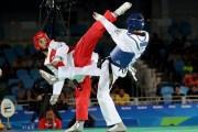 أمنية تدعم البطل أحمد أبو غوش في بطولة العالم للتايكواند