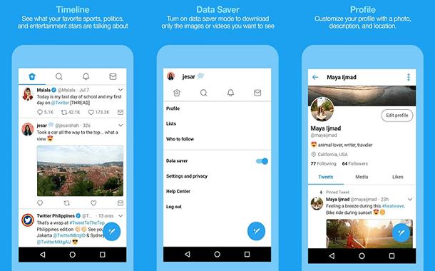 تطبيق Twitter Lite يصل لمتجر جوجل بلاي