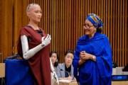 روبوت يشارك في جلسة أممية للمرة الأولى