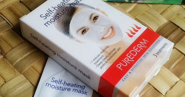 Your 1 minute cleansing treatment: PureDerm self heating mask review