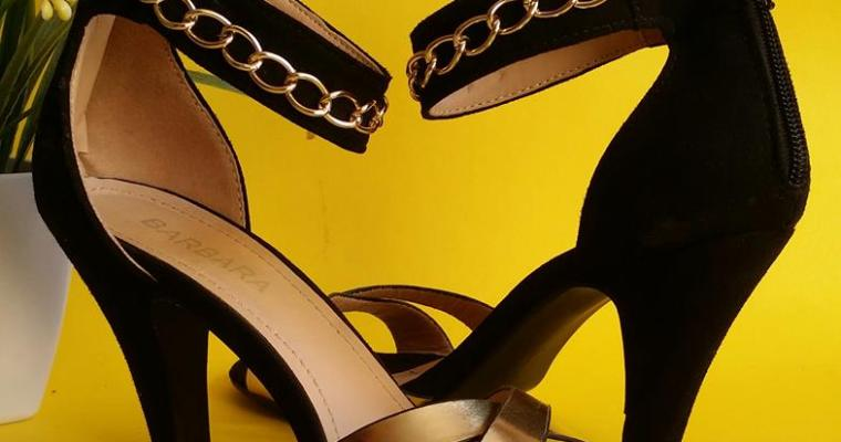 What the Funk! Chain Ankle Strap Heels