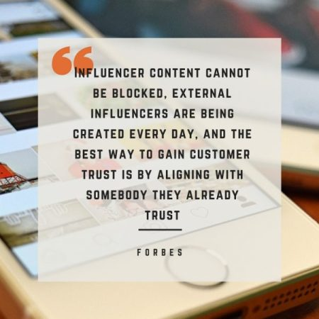 Influencer marketing cannot be blocked