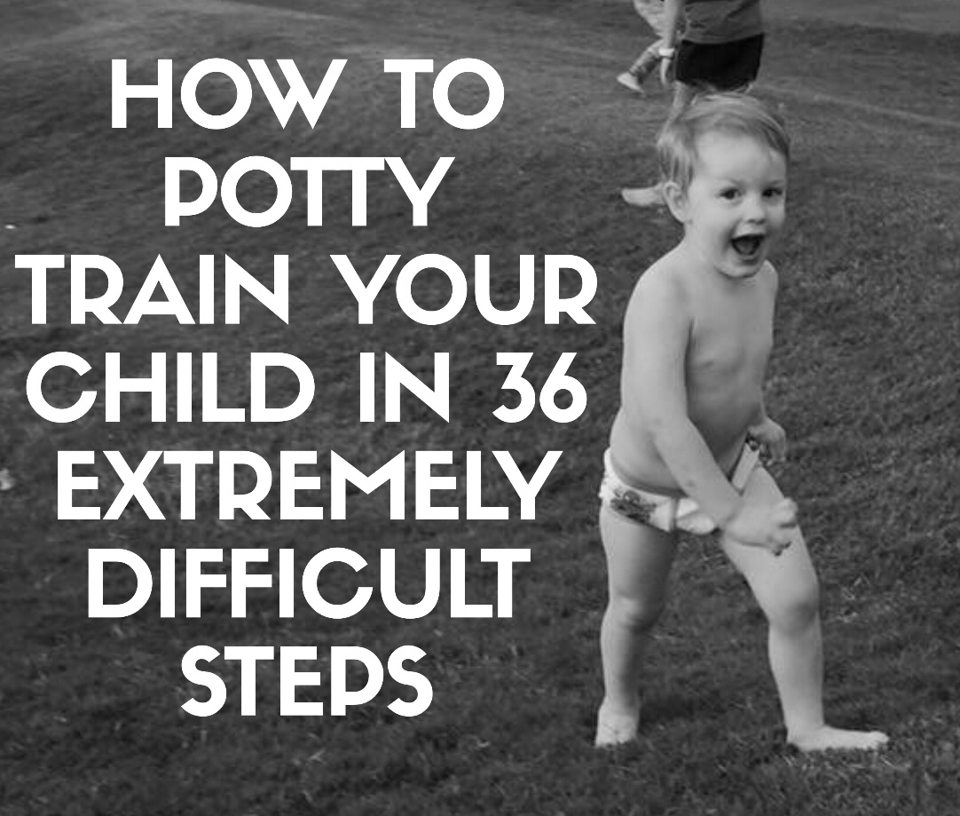 How To Potty Train Your Child in 36 Extremely Difficult Steps