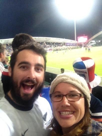 Mr. Kiss and I at the Slovenia vs. Switzerland Euro 2016 Qualifier