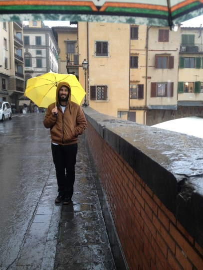 Peeing down in Firenze