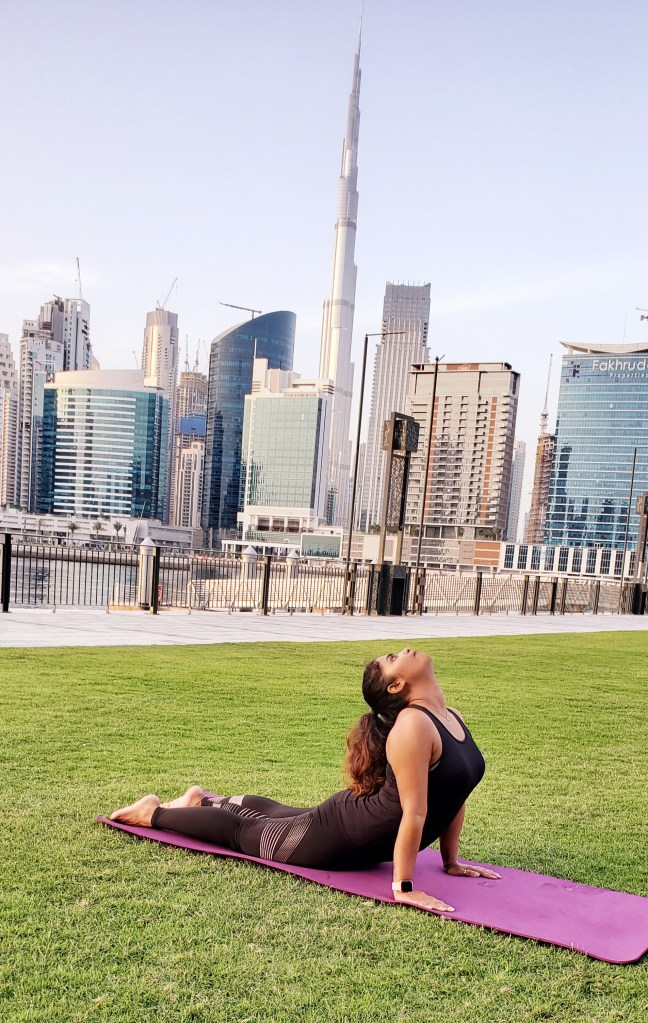 Cobra pose or Bhujangasana yoga for the improvement in posture and reduction in the stress