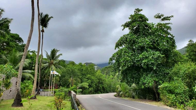 A road towards Victoria City, Seychelles