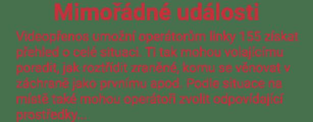 Záchranka mimořádné události hasiči Hošťálková