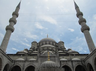 The New Mosque near The Spice Market in Istanbul. Construction began in 1597.