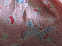 detail of doll dress fabric