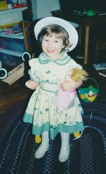 Sarah Grace dressed for Easter 2001