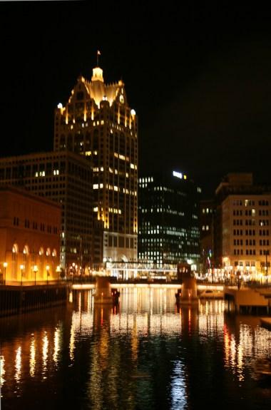 Image by Vincent Desjardins, via Flickr CC license Milwaukee (WIS) Downtown, Riverwalk.