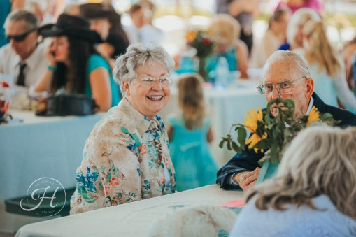 wedding photography Meridian Idaho Valley Shepherd Church laughing guest