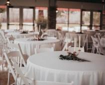 Budget wedding centerpieces | bronze candle centerpieces | budget wedding decor