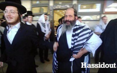 VIDEO.  Chalom Rubashkin danse avec des Hassidim au Chikoun Habad de Jérusalem