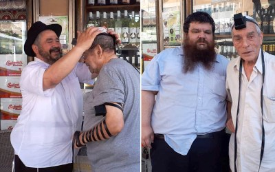 Netanya : Mivtsaim au stand de Tefilines du Kikar, veille de Roch 'Hodech Hechvan