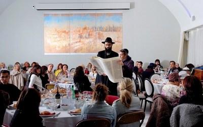EN IMAGES. Pourim 5779 avec le Beth Habad d'Antibes – Juan les Pins, dirigé par le Rav Mendel Sebag