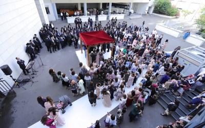 Mariage de Moché Vishedski (Ukraine) et Doby Reiza Azimov (Paris) au Beth Haya Mouchka (la Houpa)