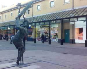 The statue - The Spirit of Cricket in Priory Meadow, Hastings