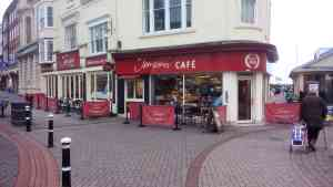 Jempson's bakery and cafe wher I had a collision with a cyclist.