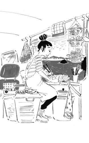 「佳代のキッチン」挿絵 (小説NON/祥伝社)