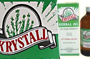 Krystall Herbal oil FGO Fely Guy Ong