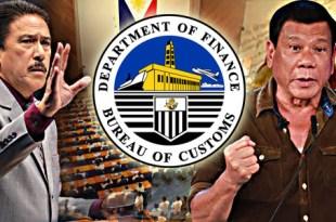 Tito Sotto Rodrigo Duterte Bureau of Customs BoC