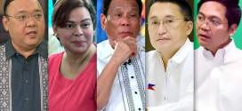 Harry Roque, Sara Duterte, Rodrigo Duterte, Bong Go, Karlo Nograles