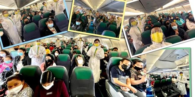 1,417 Pinoy abroad umuwi sakay ng 7 Cebu Pacific Bayanihan flights