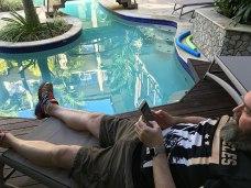 David Resting Shantara Pool