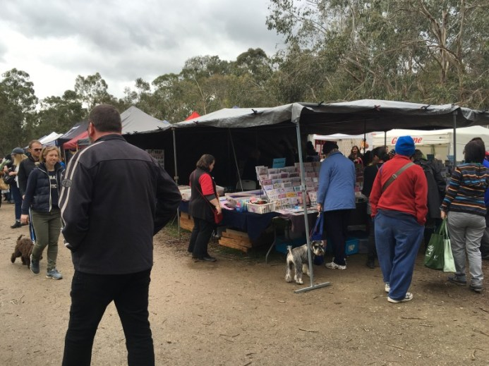 Wrapping paper stall Warrandyte Market
