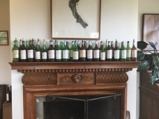 Empty Bottles on Mantel at Yarra Yering