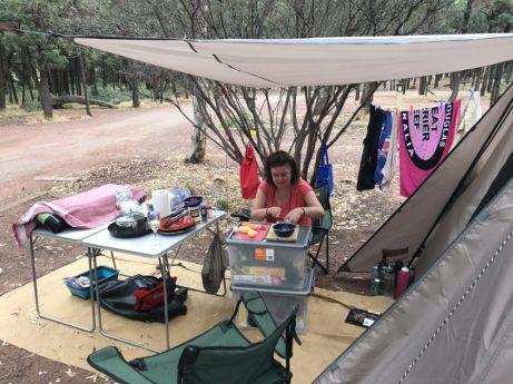 Camp set up at Wilpena Pound