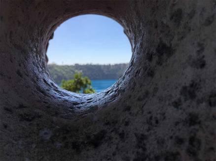 Blue Lake peep hole