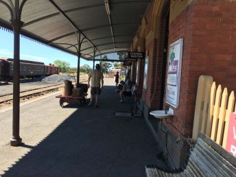 Waiting for train Maldon