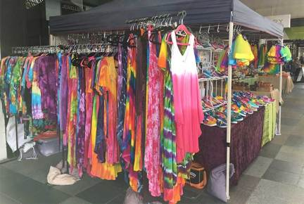 Mildura Market colorful clothing