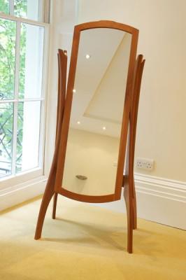 Contemporary wooden full length mirror