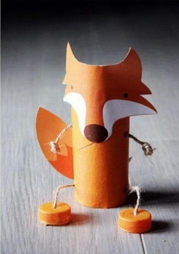50 fox paper roll crafts