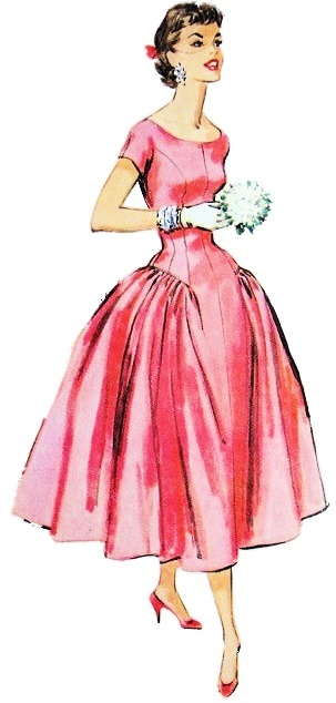 2 1950s fashion outfit sketch 1950 Fashion