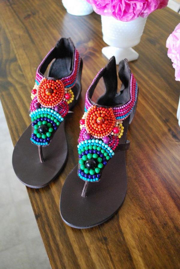10 Creative Rainbow Colored Shoes Hative