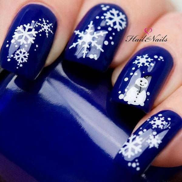 Cool Snowflake Nail Art As Symbols Of The Winter Season Are
